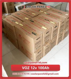 Jual baterai aki kering VOZ 12v 100Ah murah lengkap