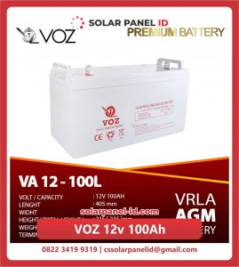Jual baterai aki kering spesifikasi VOZ 12v 100Ah