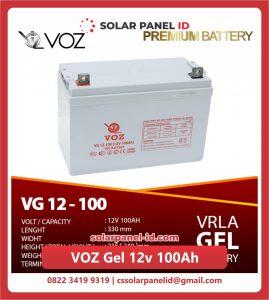 Jual baterai aki kering spesifikasi VOZ Gel 12v 100Ah