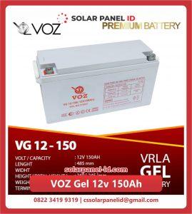 Jual baterai aki kering spesifikasi VOZ Gel 12v 150Ah