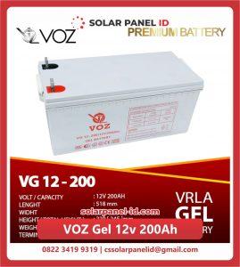 Jual baterai aki kering spesifikasi VOZ Gel 12v 200Ah