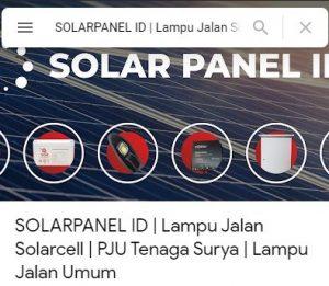 Solar Panel ID, Paket PJU Tenaga Surya, Paket Solar Home System, Paket SEHEN, Lampu Tenaga Surya