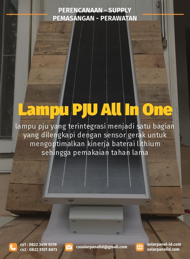 jual lampu pju all in one 40 watt bergaransi