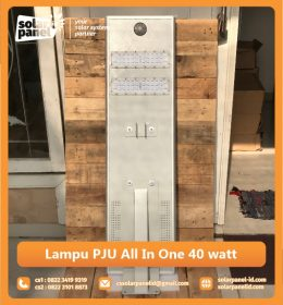 jual lampu pju all in one 40w