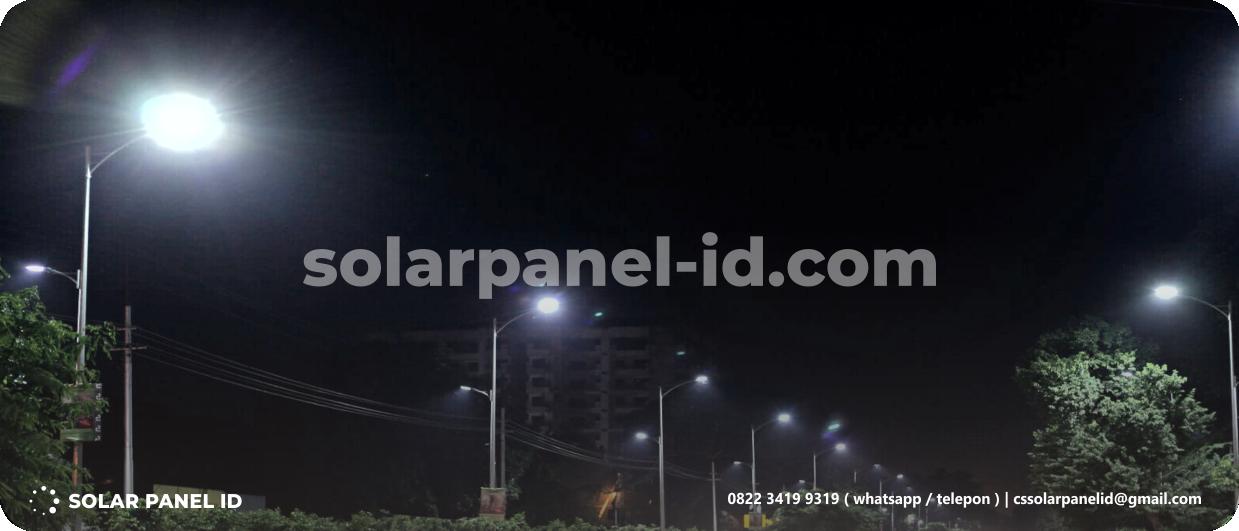 jual paket pju tenaga surya solar cell solarcell 50 watt surabaya murah