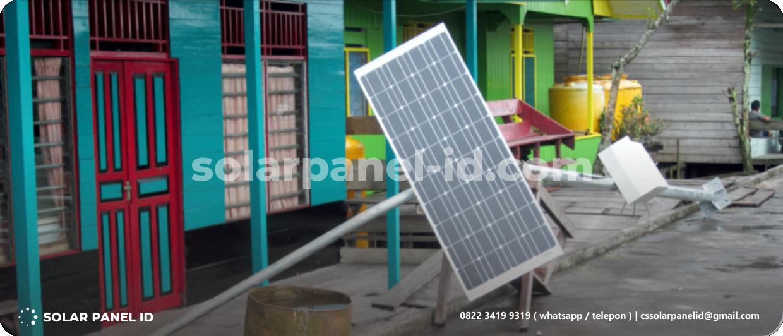 jual paket pju tenaga surya solar cell solarcell 60 watt surabaya murah