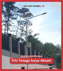 jual pju solar cell tenaga surya 40 watt 40watt
