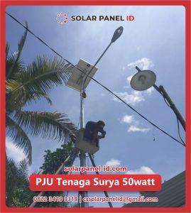 jual pju solar cell tenaga surya 50 watt 50watt