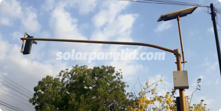 jual paket warning light solarcell 2 aspek 30cm surabaya