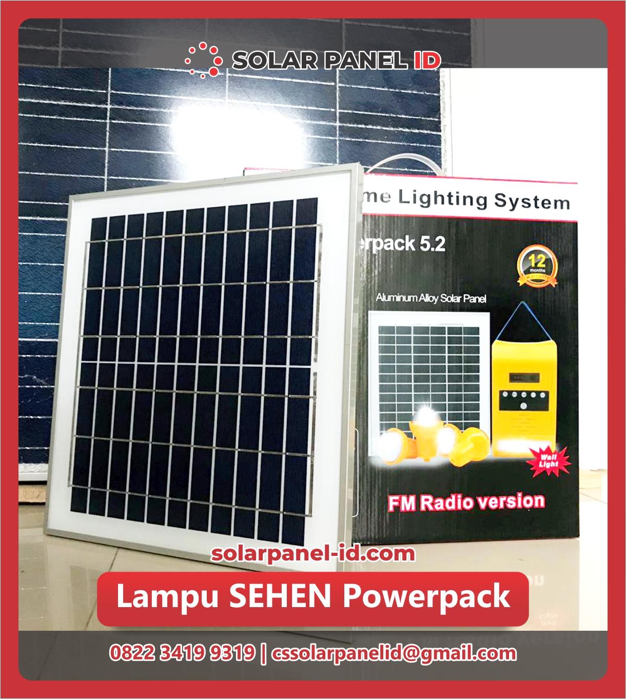 Jual paket SEHEN solarkit powerpack Tenaga Surya murah lengkap