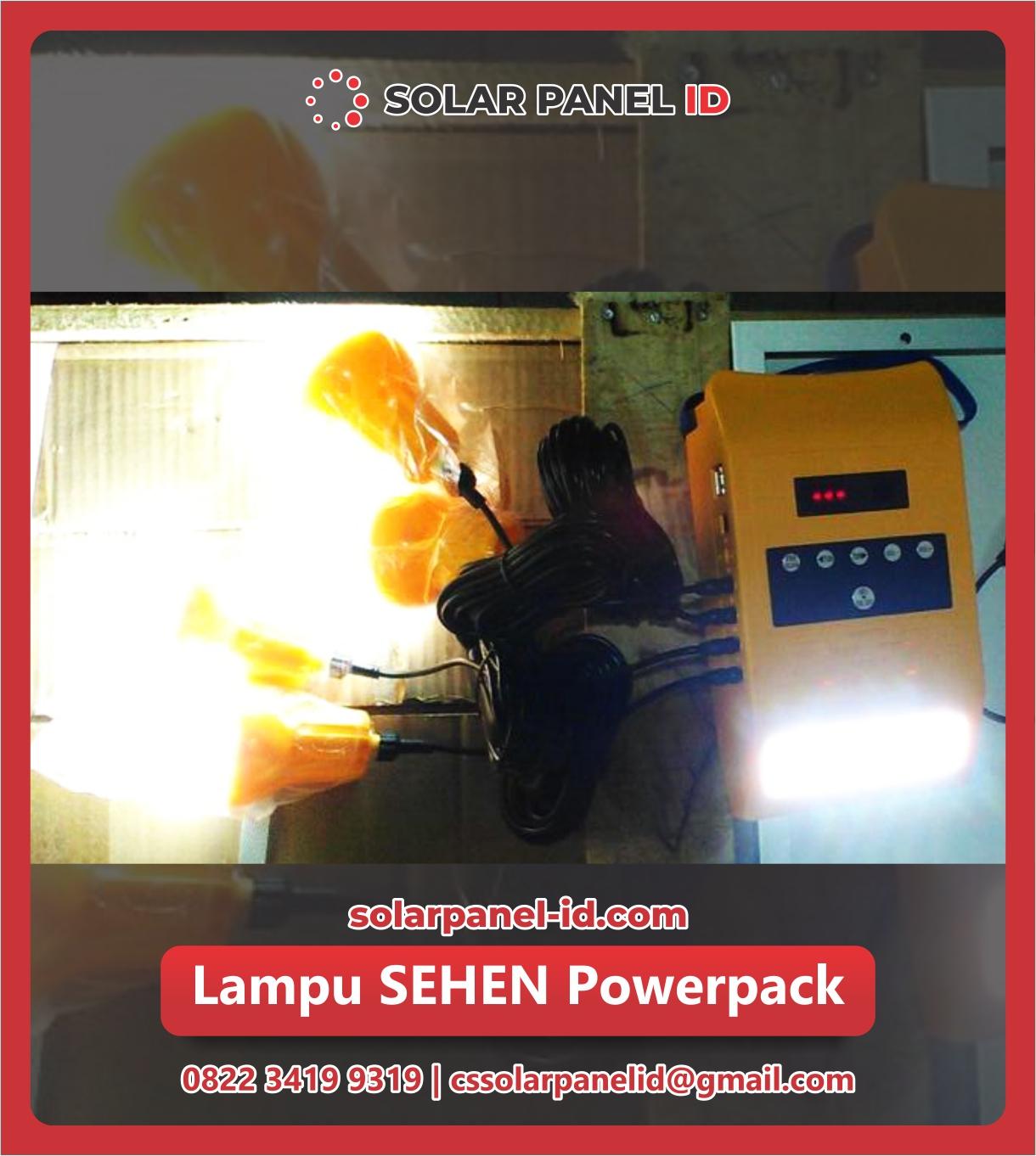 Jual paket SEHEN solarkit powerpack Tenaga Surya murah