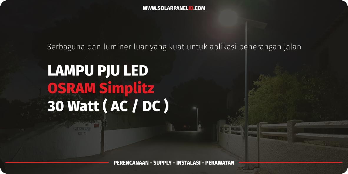 daftar harga lampu led tenaga surya osram simplitz 30watt 30 watt