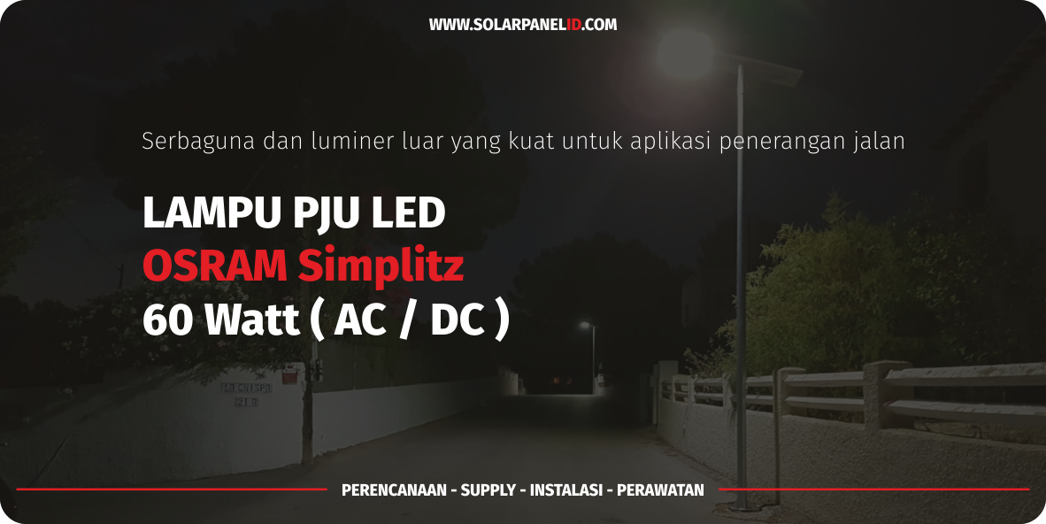 daftar harga lampu led tenaga surya osram simplitz 60watt 60 watt