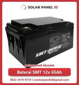 jual baterai vrla gel smt 12v 65ah solar cell tenaga surya murah