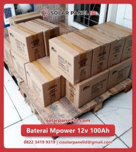 distributor baterai vrla mpower 12v 100Ah solarcell surabaya