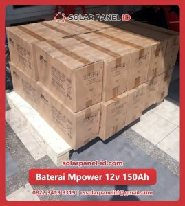 distributor baterai vrla mpower 12v 150Ah solarcell surabaya