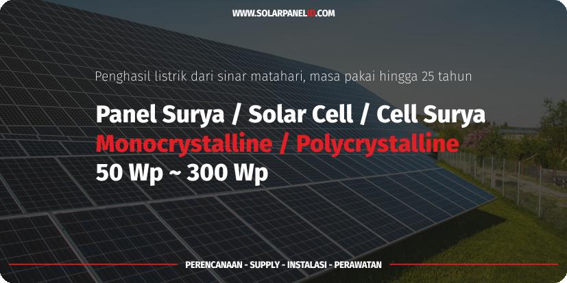 harga panel surya 150 wp mono untuk cas aki lengkap