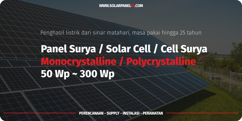 harga panel surya 50 wp poly untuk cas aki lengkap