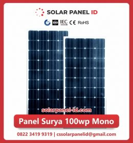 panel surya 100 wp murah mono