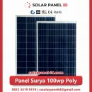 panel surya 100 wp murah poly