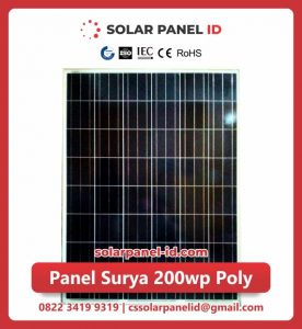 panel surya 200 wp murah poly