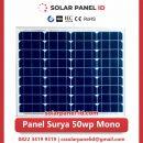 panel surya 50 wp murah mono