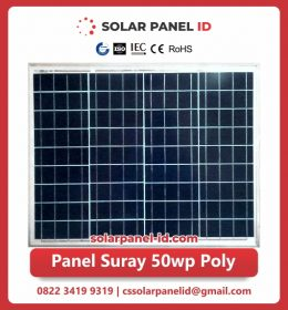 panel surya 50 wp murah poly