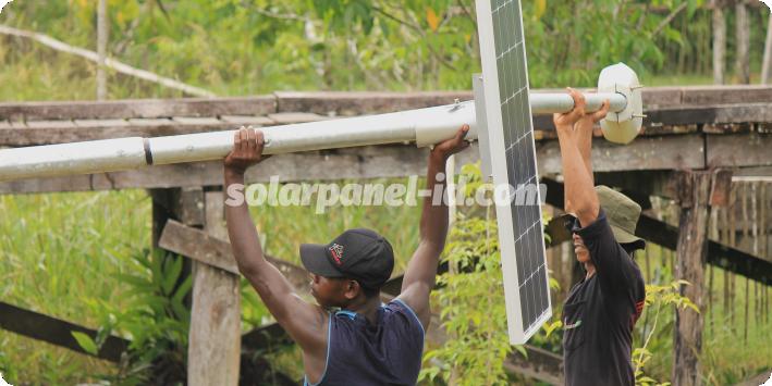 daftar harga pju solarcell satu set lengkap jayapura papua