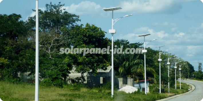 daftar harga pju solarcell satu set lengkap ketapang kalimantan barat