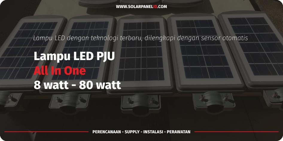 distributor lampu pju all in one 50 watt