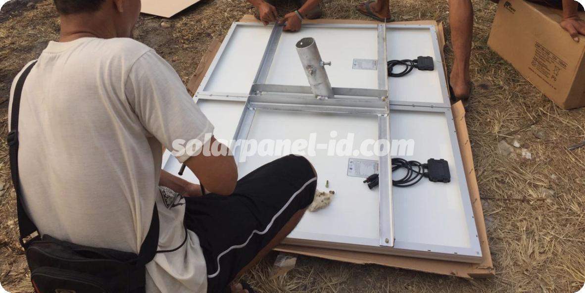lampu jalan tenaga surya kendari