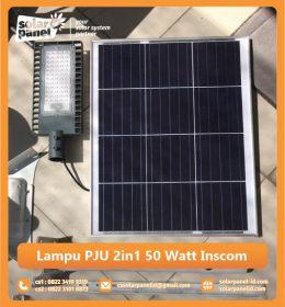 jual lampu pju 2in1 50 watt inscom