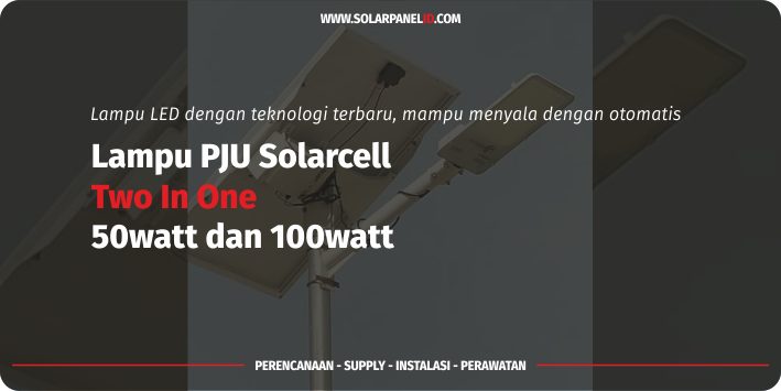 jual lampu pju solarcell 2in1 50 watt