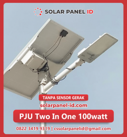 lampu pju solarcell two in one 100watt