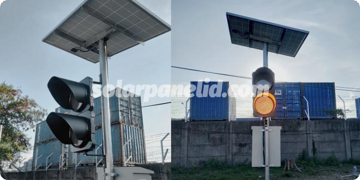 distributor paket solar warning solarcell light 2 aspek 20cm murah