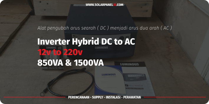 harga inverter luminous hybrid dc to ac 1500va 1200watt 24v