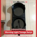jual warning light tenaga surya 2 aspek 20 cm