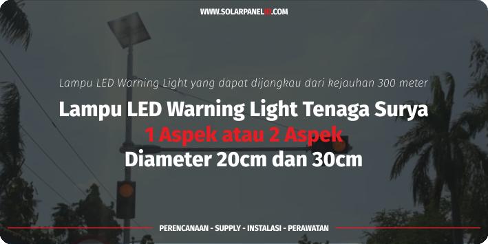 jual warning light tenaga surya solar cell 1 aspek 20 cm