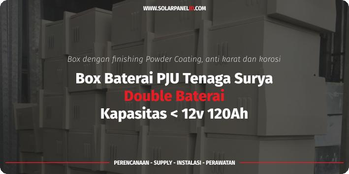 jual box double baterai pju tenaga surya