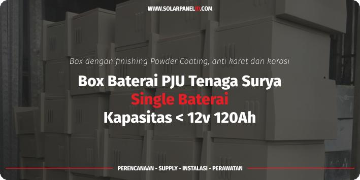 jual box single baterai pju tenaga surya