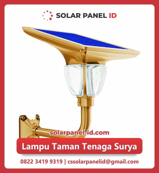 Jual Lampu Taman Tenaga Surya 7 Watt Solar Panel Id