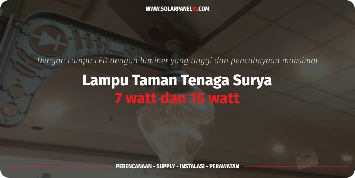 lampu taman solarcell solar garden light 15 watt