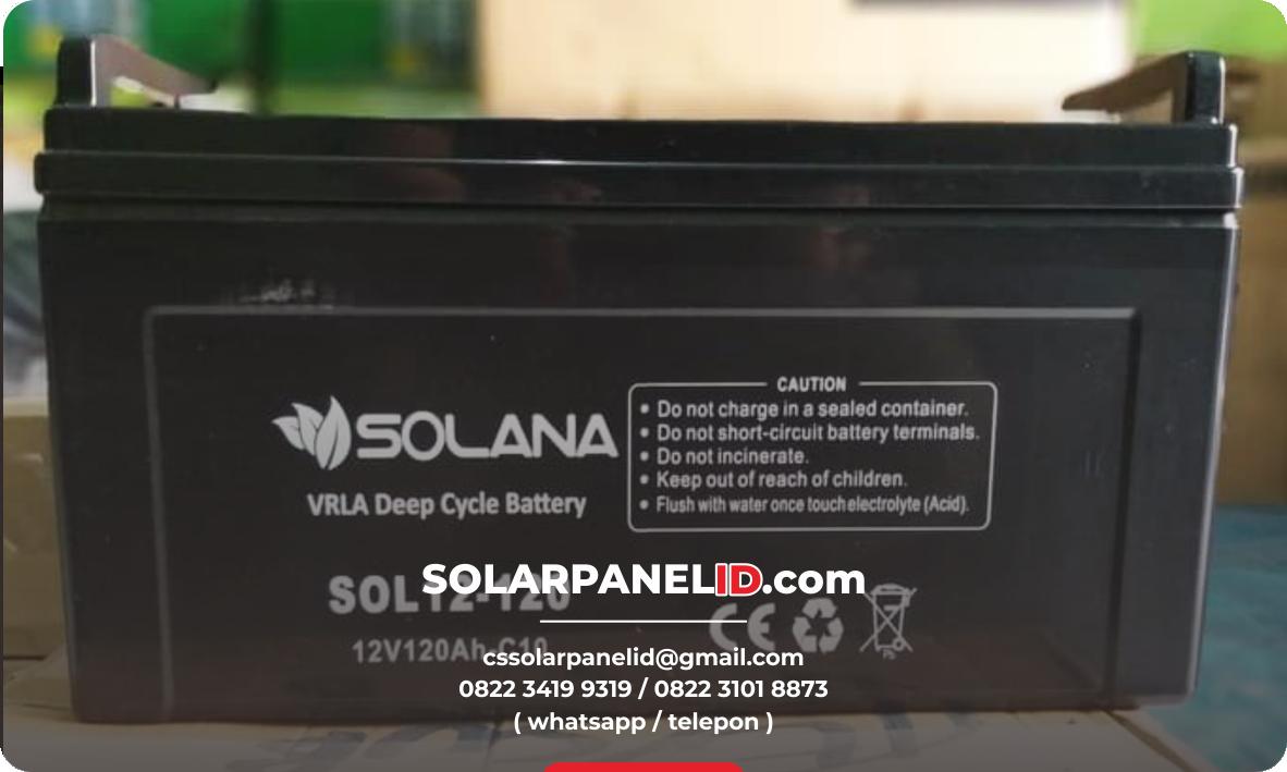 jual baterai vrla solana 12v 120ah murah bergaransi surabaya