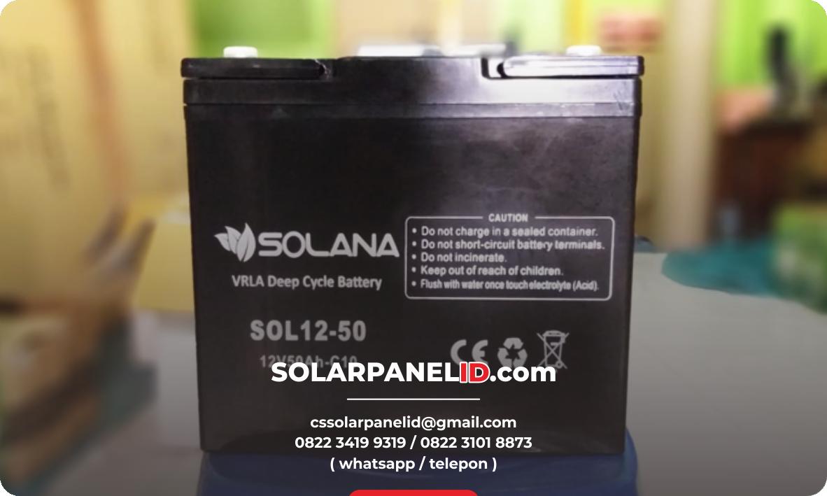 jual baterai vrla solana 12v 50ah murah bergaransi surabaya