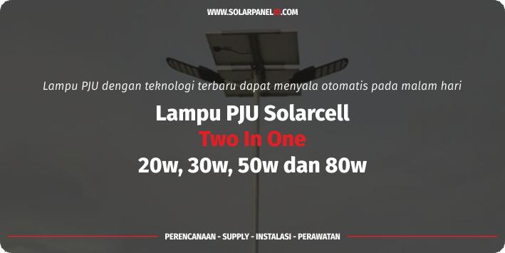jual lampu pju solarcell 2in1 80 w