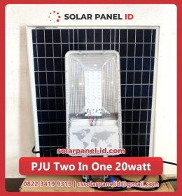 lampu pju solarcell two in one 20watt