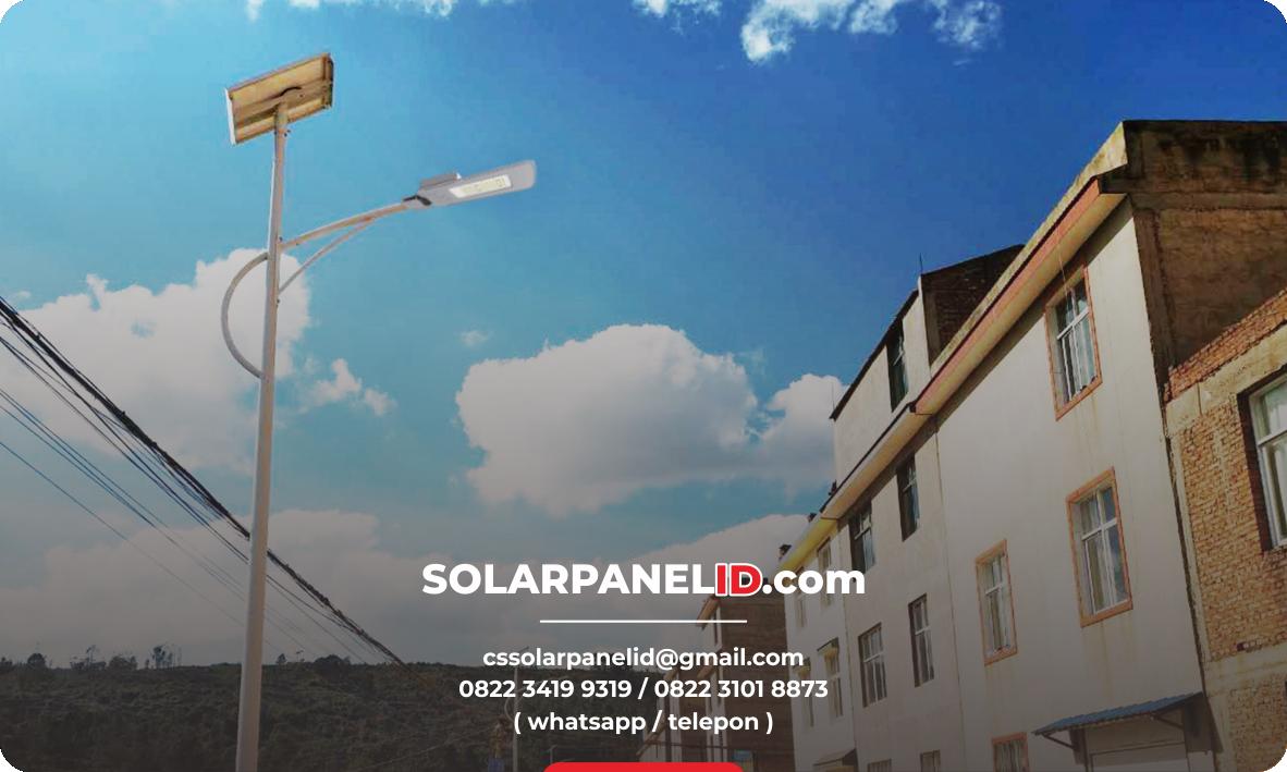 lampu pju solarcell two in one 30 watt