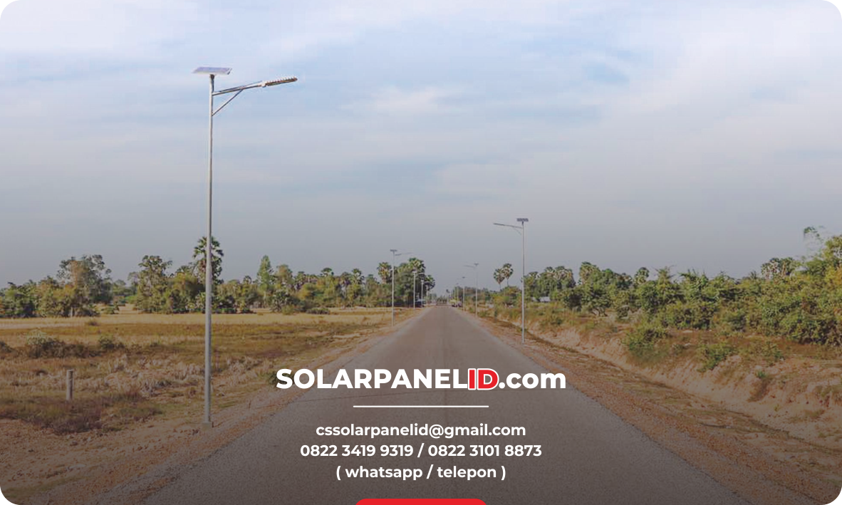 lampu pju solarcell two in one 50 w