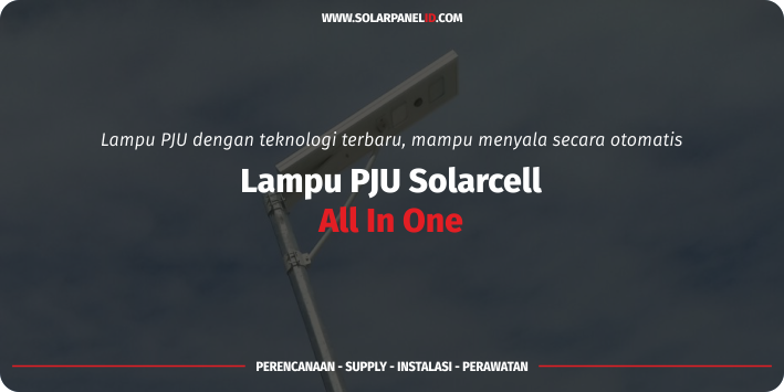 jual lampu pju solarcell all in one 40watt