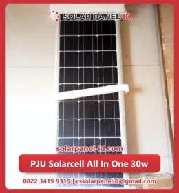 lampu pju solarcell all in one 30watt